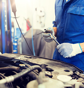 Mechanic work at Car Workshop Image
